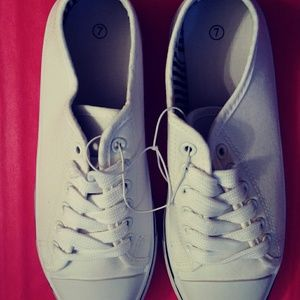 Orly Women's White Athletic Shoes - Size 7